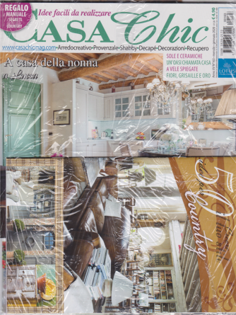 Casa chic + Vivere country + Crea il tuo stile  - n. 163 - mensile - gennaio 2020 - 3 riviste