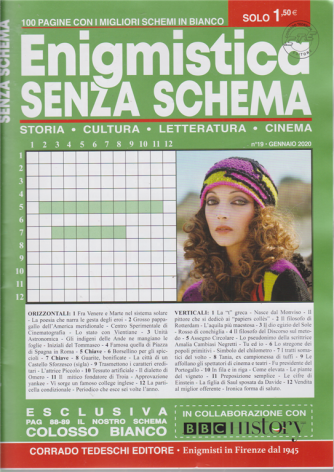 Enigmistica senza schema - n. 19 - mensile - 15/1/2020 - 100 pagine con i migliori schemi in bianco