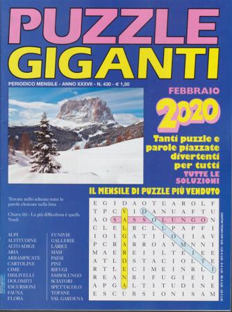 Puzzle giganti - n. 430 - mensile - febbraio 2020 -