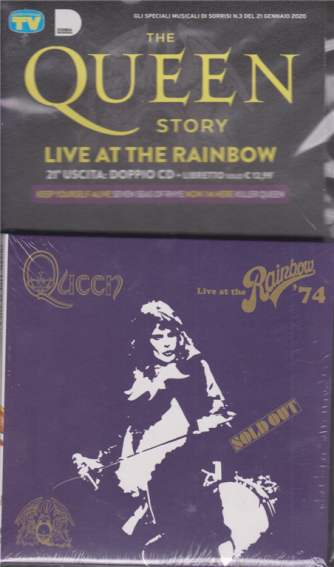 The Queen story - Live at the rainbow - n. 21 - doppio cd + libretto