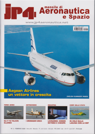 Jp4 Mensile di Aeronautica e Spazio - n. 2 - febbraio 2020 - mensile