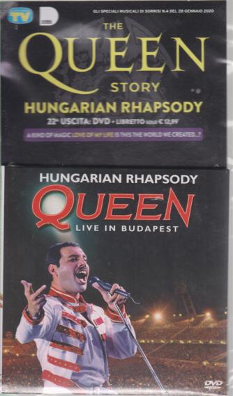 The Queen story - Hungarian Rhapsody - n. 22 - dvd + libretto - Gli speciali musicali di Sorrisi  4 - 28 gennaio 2020 -