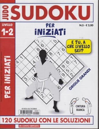 Judo Sudoku - Per iniziati - livello 1-2 - n. 5 - 28 gennaio 2020 -