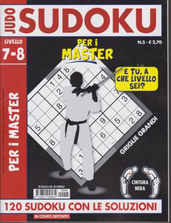 Judo Sudoku - n. 5 - 28 gennaio 2020 - Per i master- livello 7-8