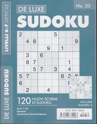 Sudoku - n. 52 - bimestrale - livelli 6-7 difficile
