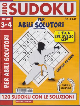 Judo Sudoku - Per abili solutori - livello 3-4 - n. 5 - 28 gennaio 2020 -