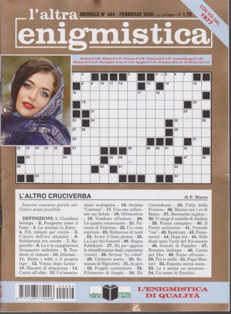 L'altra enigmistica - n. 484 - mensile - febbraio 2020