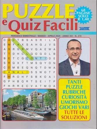 Puzzle e quiz facili - n. 274 - bimestrale - marzo - aprile 2020 - 68 pagine