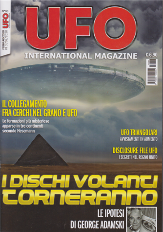 UFO International magazine - n. 83 - febbraio 2020 - mensile