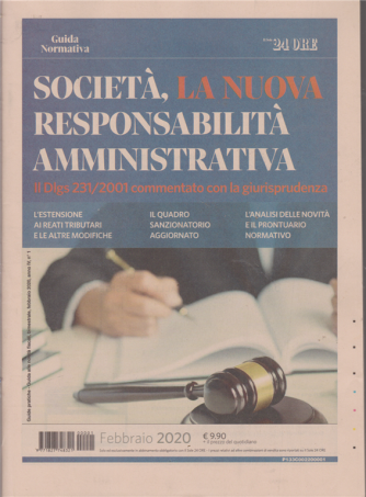 Società, la nuova responsabilità amministrativa - Guida normativa - n. 1 - febbraio 2020 - bimestrale