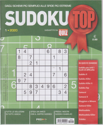 Sudoku Top - n. 1 - trimestrale - febbraio - aprile 2020