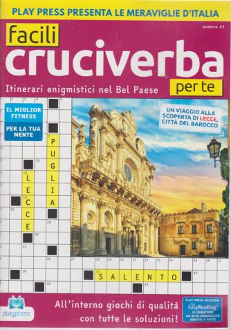 Facili cruciverba per te - n. 41 - bimestrale - 3/2/2020 -