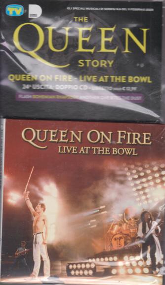 Gli speciali musicali di Sorrisi - n. 6 - 11 febbraio 2020 - The Queen story - Queen on fire - live at the bowl - uscita n. 24 - doppio cd + libretto
