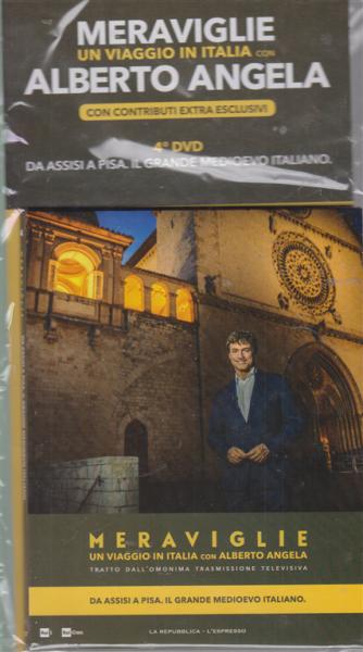 Meraviglie - Un viaggio in Italia con Alberto Angela - 4° dvd - Da Assisi a Pisa. Il grande medioevo italiano - 12 febbraio 2020 -