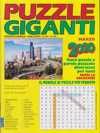 Puzzle giganti - n. 431 - mensile - marzo 2020 -