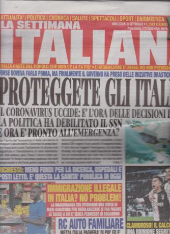 La settimana Italiana - n. 3 - settimanale - 27/2/2020 -