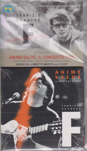 Cd Sorrisi Collezion - n. 8 - 25 febbraio 2020 - Fabrizio De Andrè - uscita n. 21 - Anime salve. Il concerto 1997 - doppio cd + libretto inedito