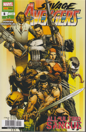 Avengers Senza Ritorno - Savage Avengers N. 5 - mensile - 27 febbraio 2020 - All'ultimo sangue