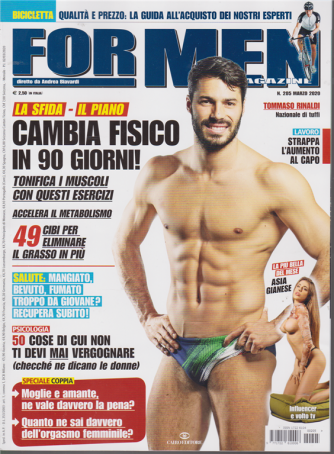 For Men Magazine - n. 205 - marzo 2020 - mensile