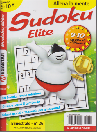 Sudoku Elite - Liv.9-10 - n. 26 - bimestrale - 2/3/2020
