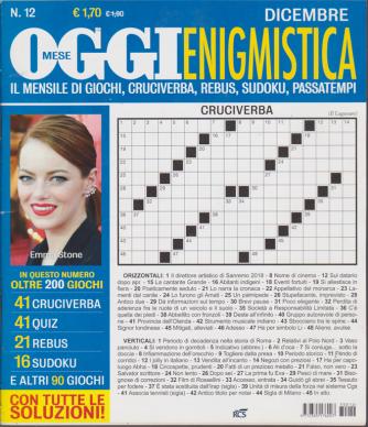 Oggi Enigmistica - n. 12 - dicembre 2018 - mensile
