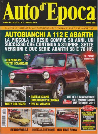 Auto D'epoca - n. 415 marzo 2019 - mensile