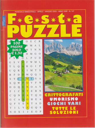 Festa Puzzle - n. 147 - bimestrale - aprile - maggio 2020 - 100 pagine