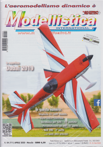 L'aeromodellismo dinamico è Modellistica international - n. 4 - aprile 2020 - mensile