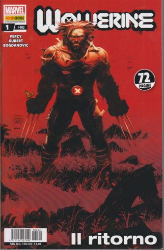 Wolverine - Wolverine N. 1 / 402 - Il ritorno - mensile - 7 maggio 2020- 72 pagine