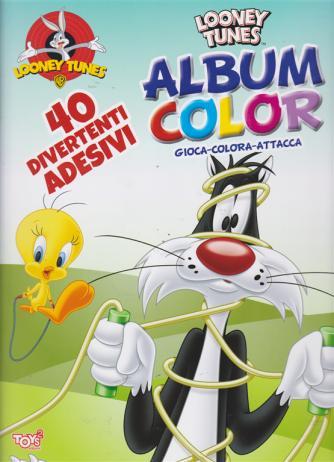 Album color Looney Tunes - n. 24 - bimestrale - 21 marzo 2019 - 40 divertenti adesivi