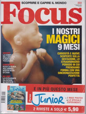Focus + Focus Junior - n. 333 - luglio 2020 - 2 riviste