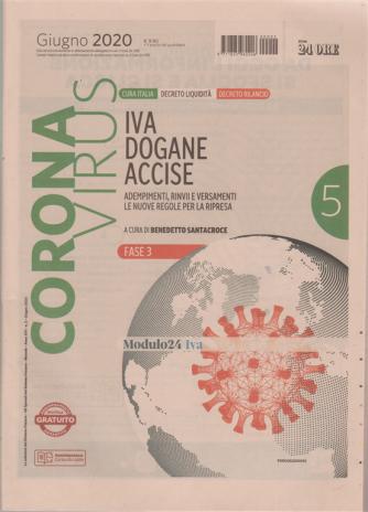 Coronavirus - Iva dogane accise - n. 2 - mensile - giugno 2020 -