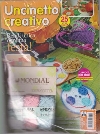 Piccole Idee Split - Uncinetto creativo - n. 68 - mensile + 3 gomitoli Mondial 100% cotone