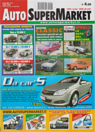 Auto Super Market - n. 7 - luglio 2020 -