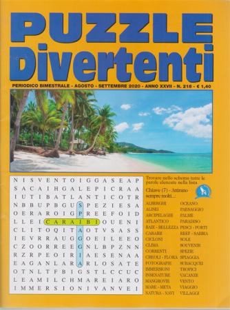 Puzzle Divertenti - n. 218 - bimestrale - agosto - settembre 2020 -