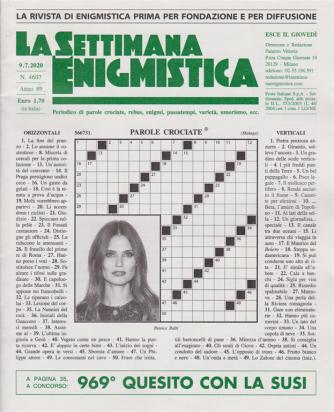 La Settimana Enigmistica - n. 4607 - 9/7/2020 - settimanale