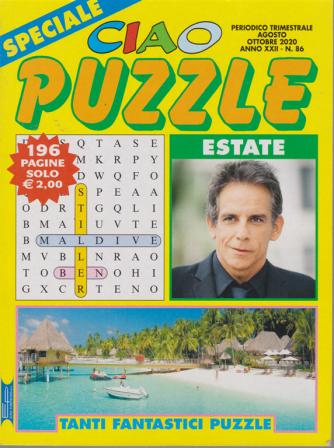 Speciale Ciao puzzle estate - n. 86 - trimestrale - agosto - ottobre 2020 - 196 pagine