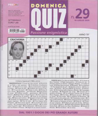 Domenica quiz - n. 29 - 16 luglio 2020 - settimanale