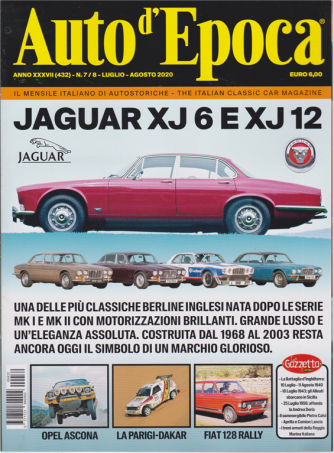 Auto D'epoca - n. 432 - luglio - agosto 2020 - mensile
