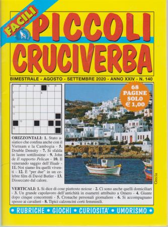 Piccoli Cruciverba - n. 140 - bimestrale - agosto - settembre 2020 - 68 pagine