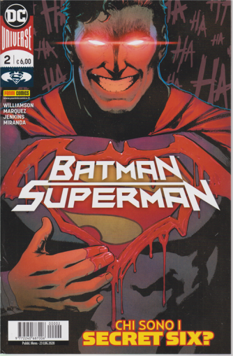Batman/Superman - n. 2 - mensile - Chi sono i secret six? 23 luglio 2020