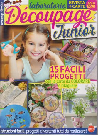 Laboratorio Decoupage Junior - n. 1 - bimestrale - agosto - settembre 2020 - rivista + carte