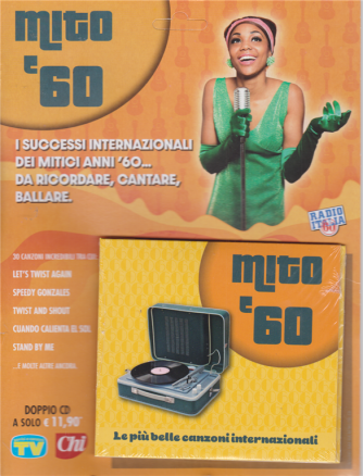 Cd Sorrisi Canzoni - n. 18 - Mito '60 - le più belle canzoni internazionali - settimanale - 28/7/2020 - doppio cd