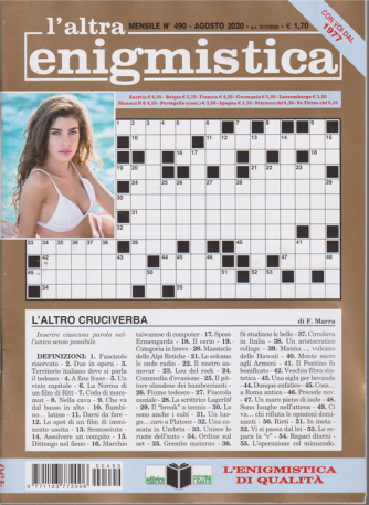 L'altra Enigmistica - n. 490 - mensile - agosto 2020