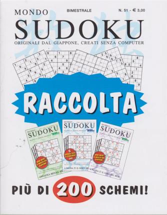 Raccolta Mondo sudoku - n. 51 - bimestrale - agosto - settembre 2020 -
