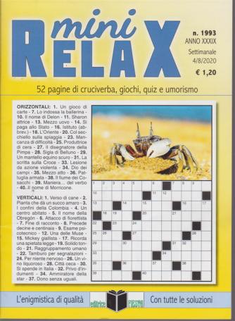 Mini Relax - n. 1993 - settimanale - 4/8/2020 -