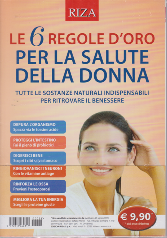 Riza Antiage - n. 28 - agosto 2020 - Le 6 regole d'oro per la salute della donna
