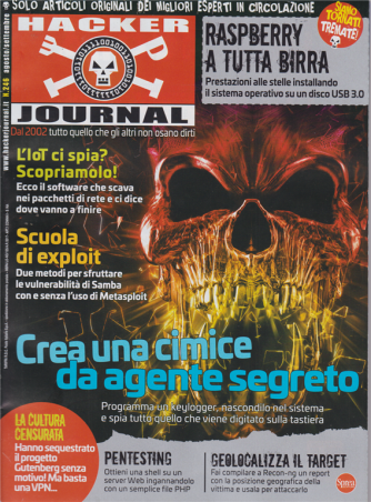 Hacker Journal - n. 246 - agosto - settembre 2020 - mensile