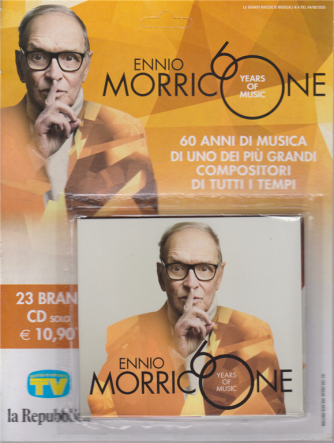 Grandi Raccolte Musicali n. 21 - Ennio Morricone  60 years of music - 4/8/2020 - 23 brani