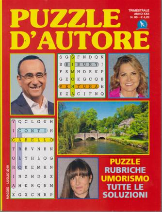 Puzzle d'autore - n. 68 - trimestrale - maggio - luglio 2019 -